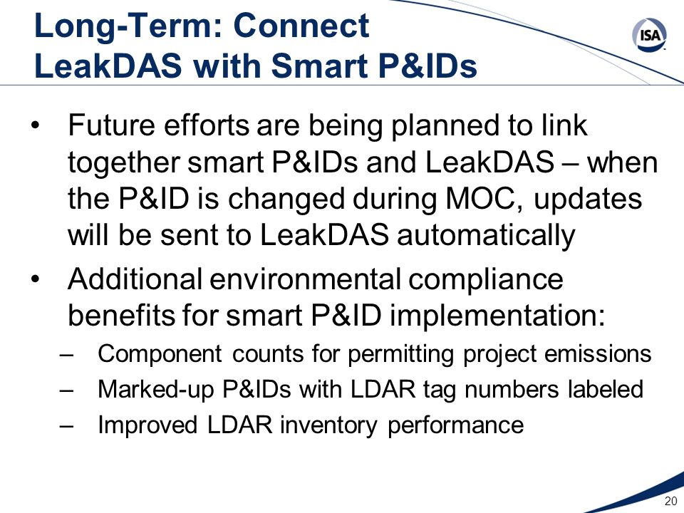 Long-Term: Connect LeakDAS with Smart P&IDs