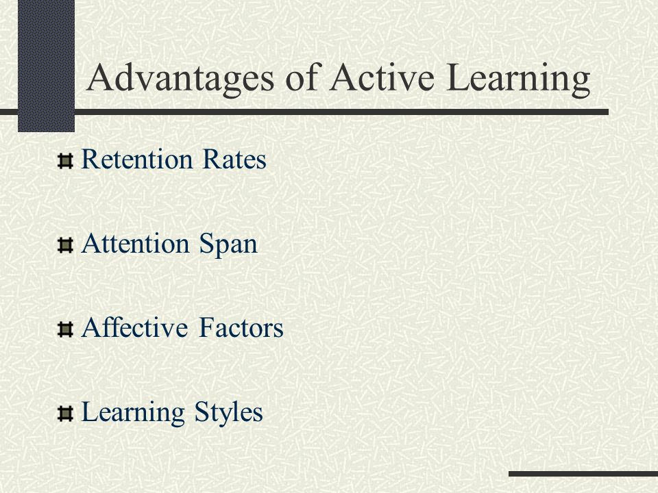 Advantages of Active Learning