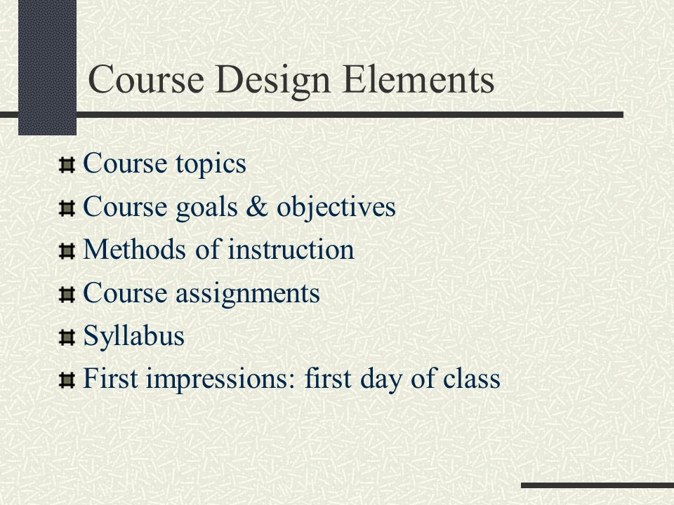 Course Design Elements