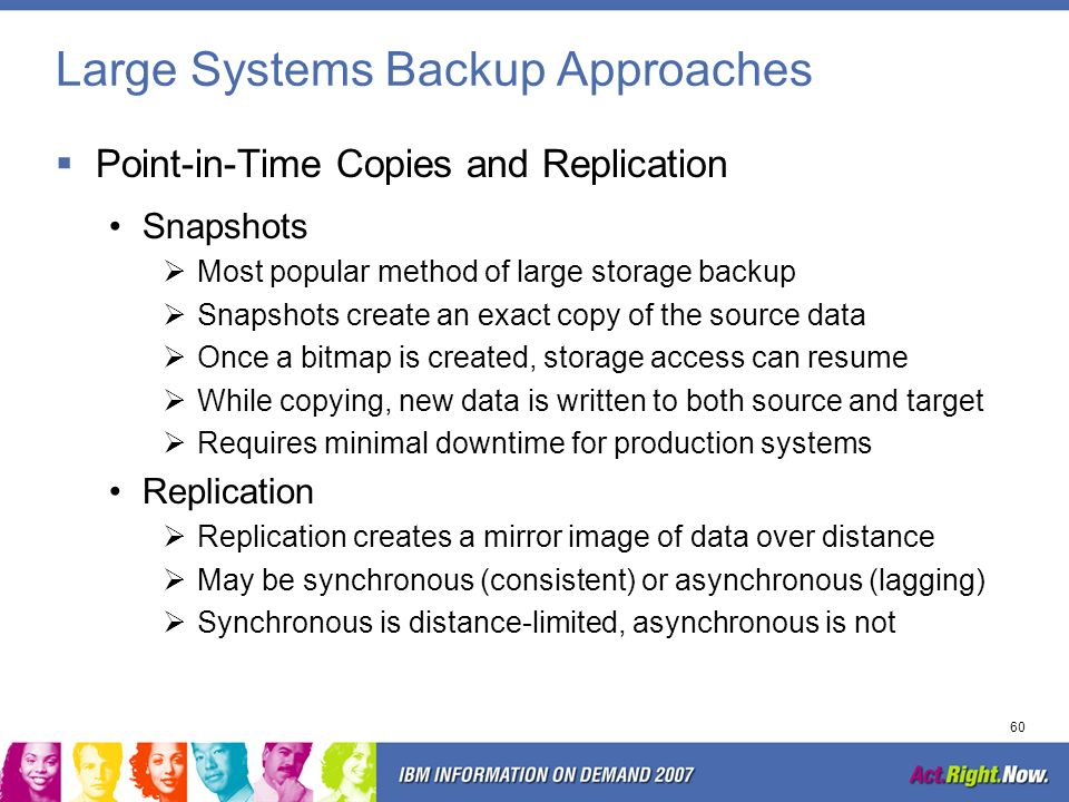 Large Systems Backup Approaches