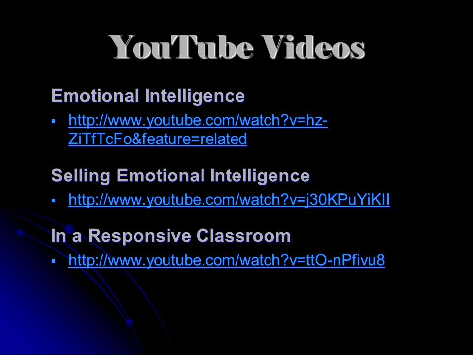 YouTube Videos Emotional Intelligence Selling Emotional Intelligence