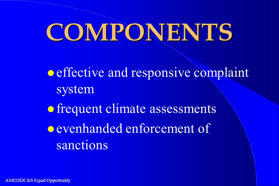COMPONENTS effective and responsive complaint system