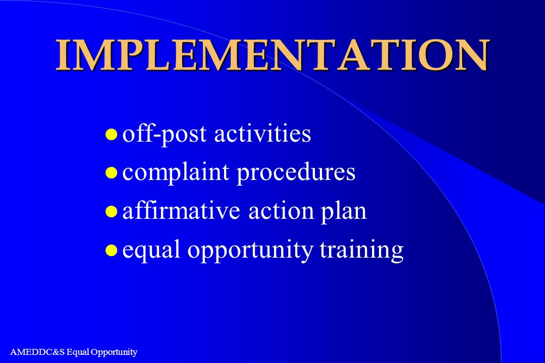 IMPLEMENTATION off-post activities complaint procedures