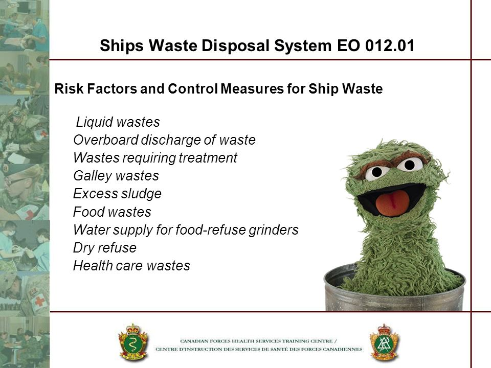 Ships Waste Disposal System EO 012.01