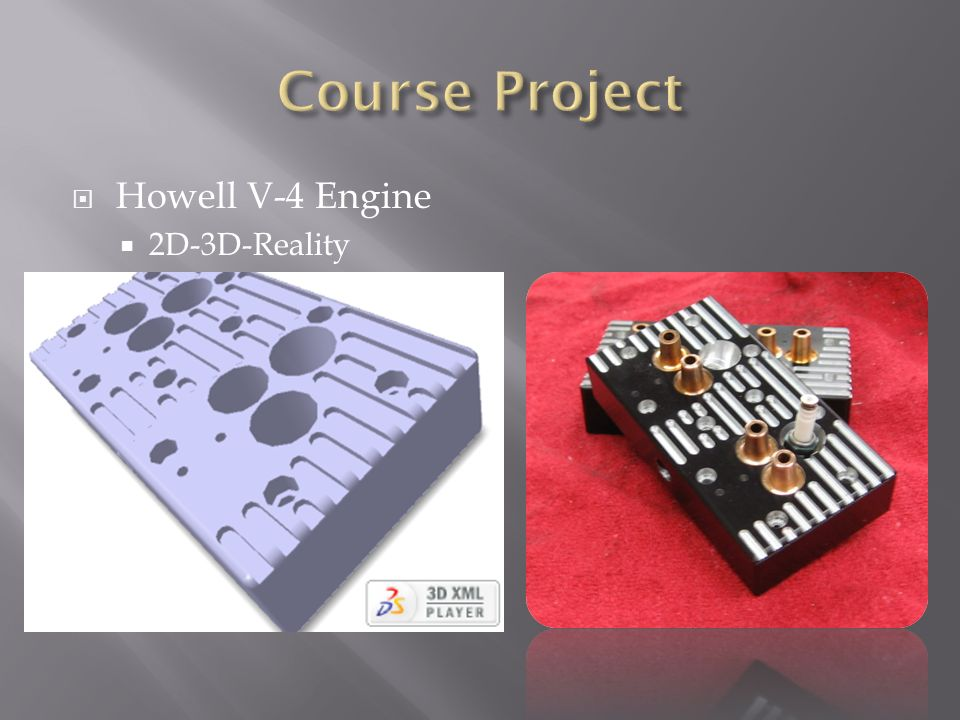 Course Project Howell V-4 Engine 2D-3D-Reality