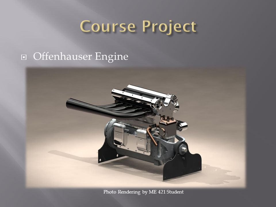 Course Project Offenhauser Engine Photo Rendering by ME 421 Student