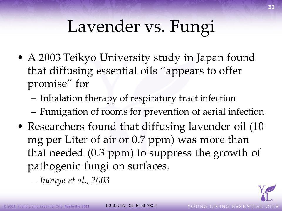ESSENTIAL OIL RESEARCH