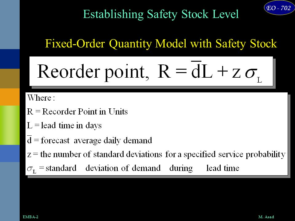 Fixed-Order Quantity Model with Safety Stock