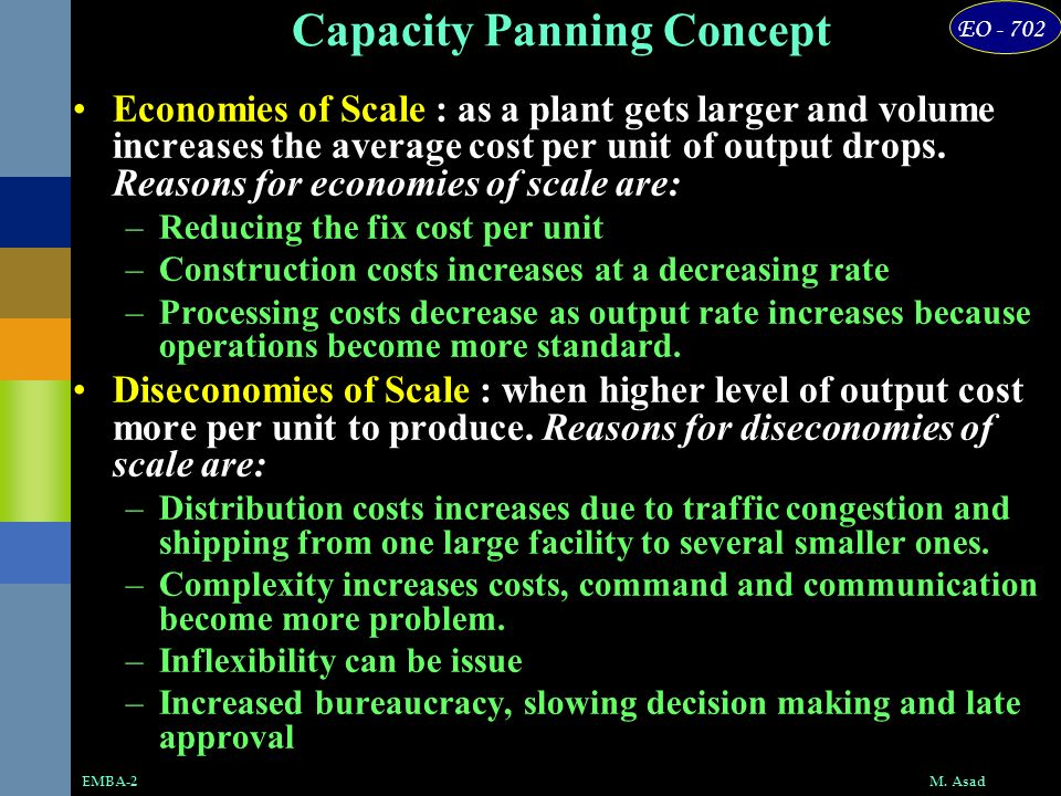 Capacity Panning Concept