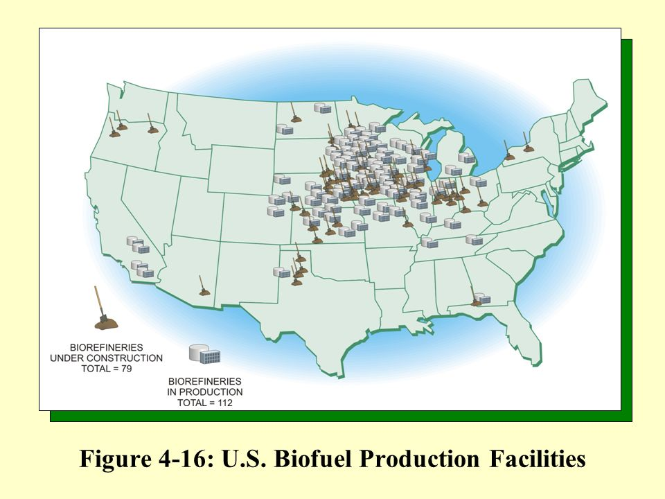 Figure 4-16: U.S. Biofuel Production Facilities