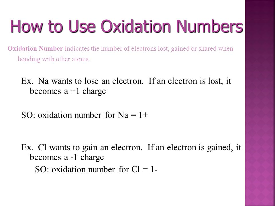 How to Use Oxidation Numbers