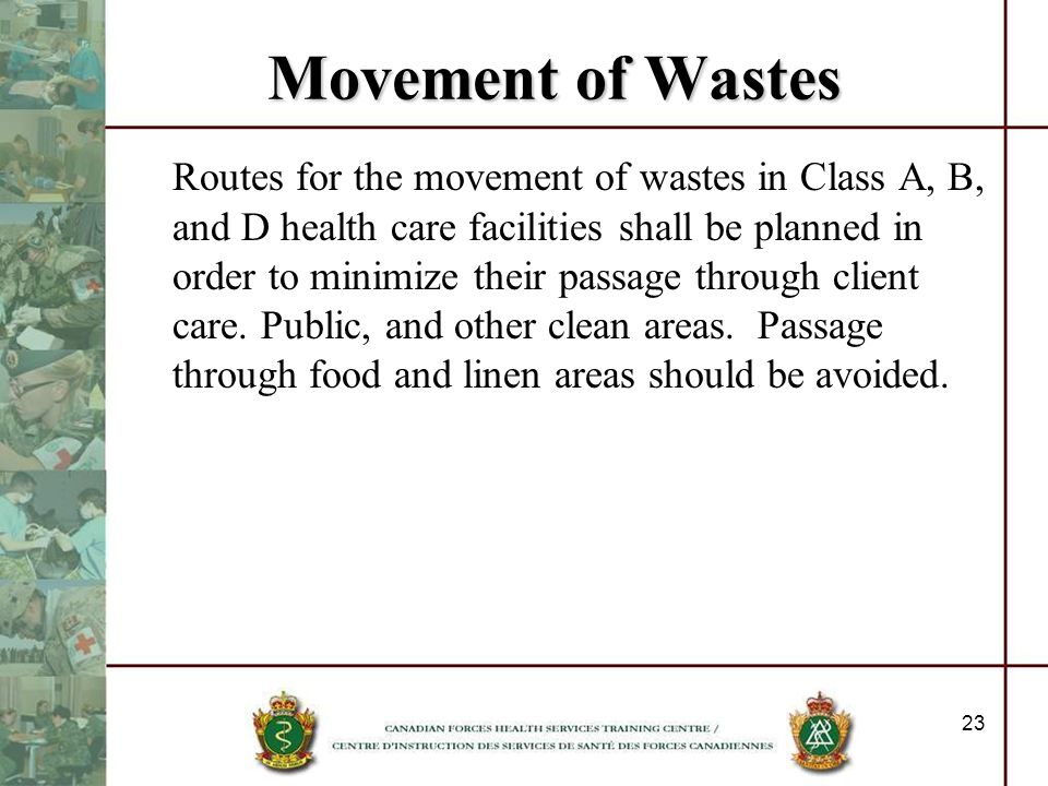 Movement of Wastes