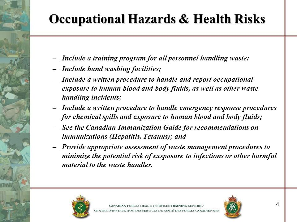 Occupational Hazards & Health Risks