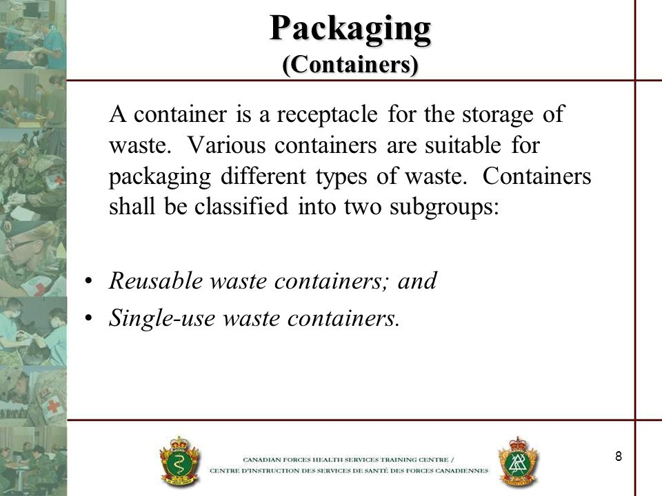 Packaging (Containers)