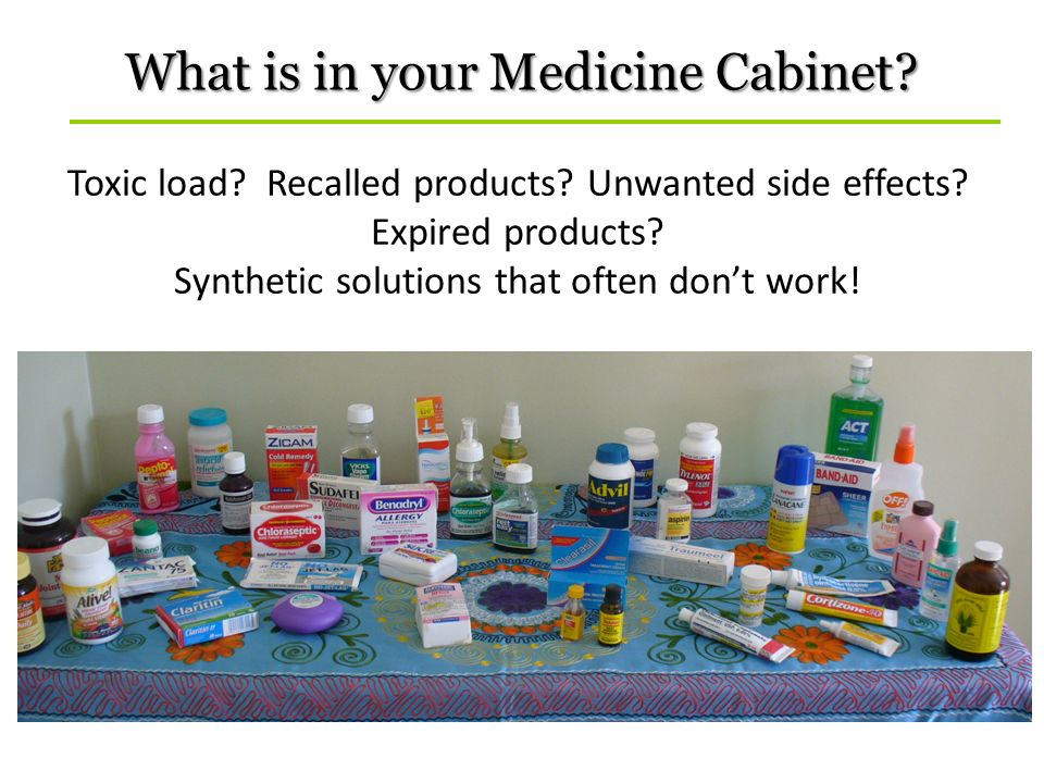 What is in your Medicine Cabinet