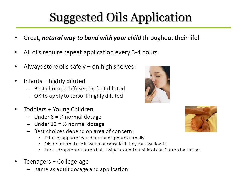 Suggested Oils Application