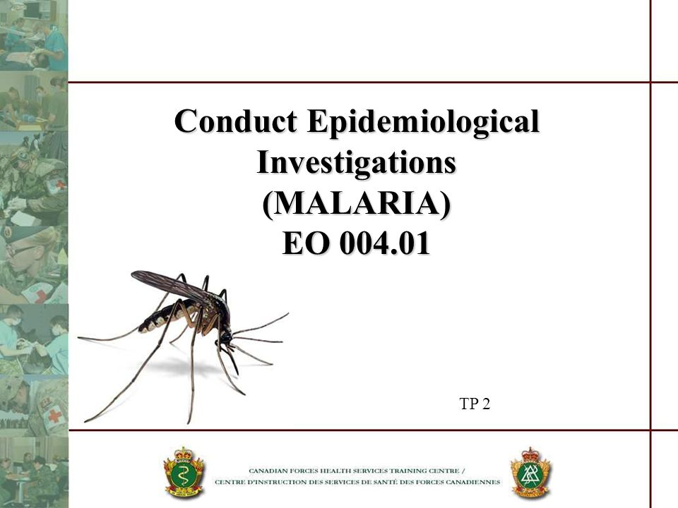 Conduct Epidemiological Investigations