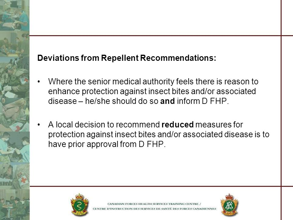 Deviations from Repellent Recommendations: