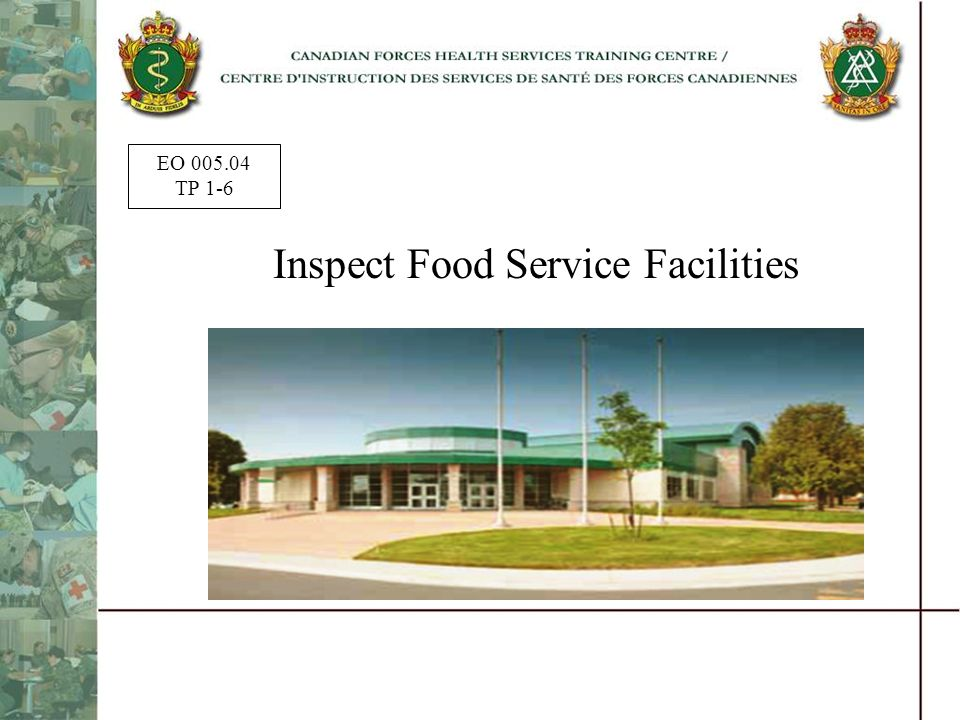 Inspect Food Service Facilities