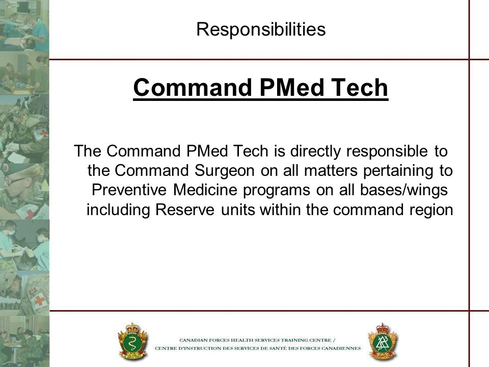 Command PMed Tech Responsibilities