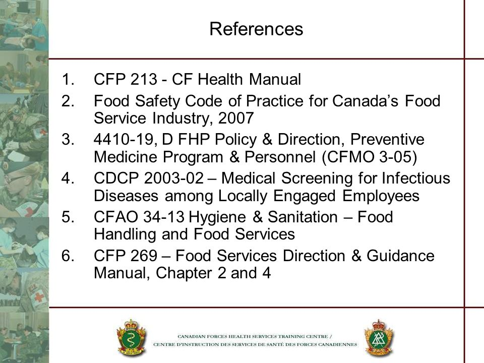 References CFP CF Health Manual