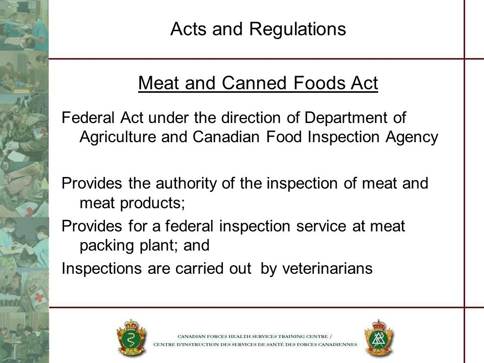 Meat and Canned Foods Act