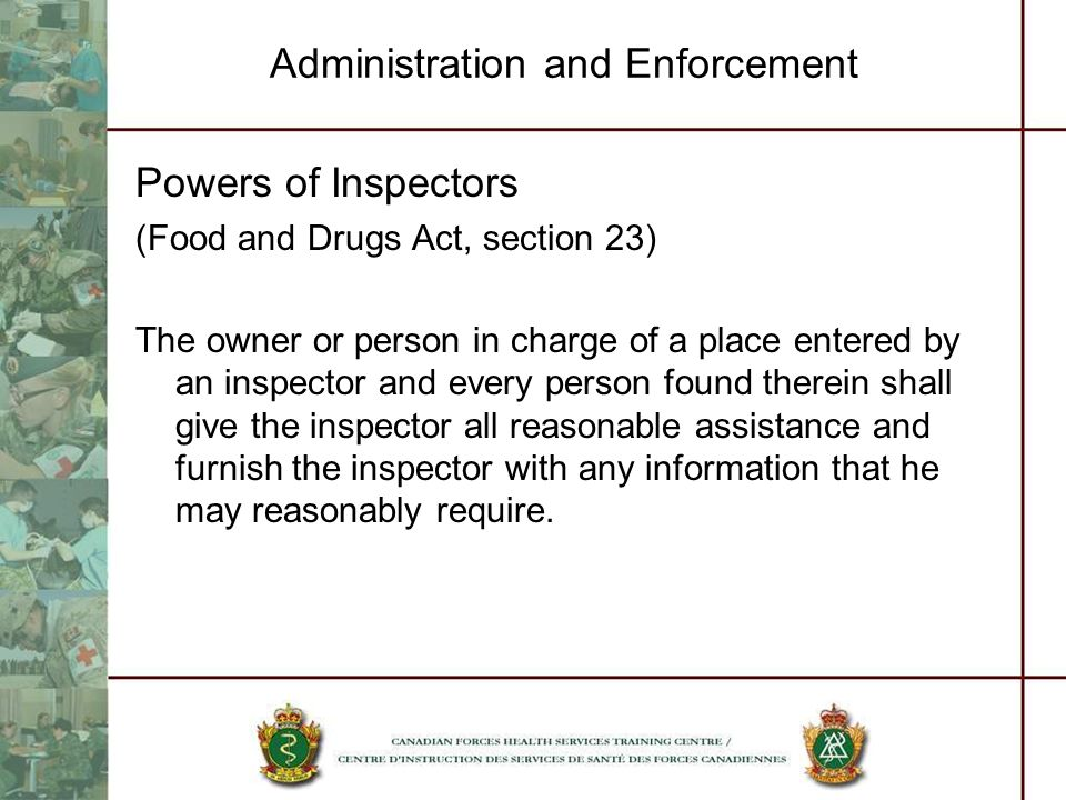 Administration and Enforcement