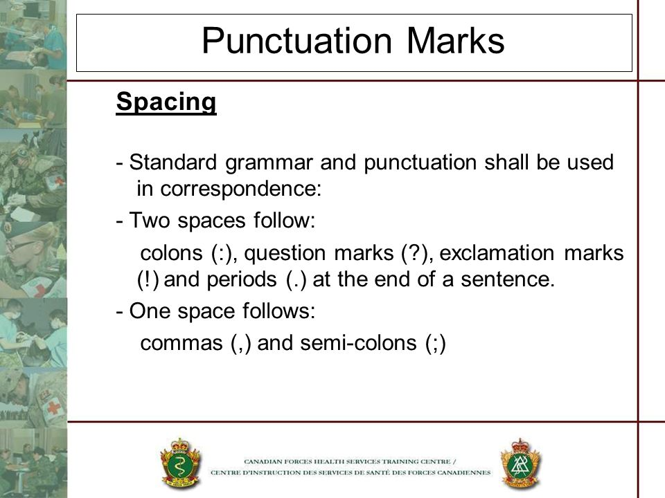 Punctuation Marks Spacing