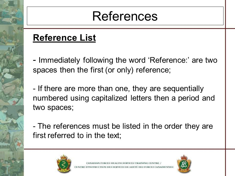References Reference List