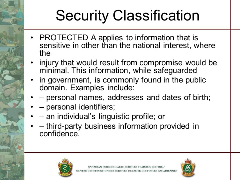 Security Classification