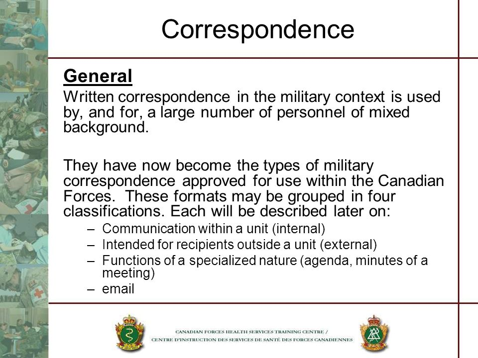military correspondence ppt download