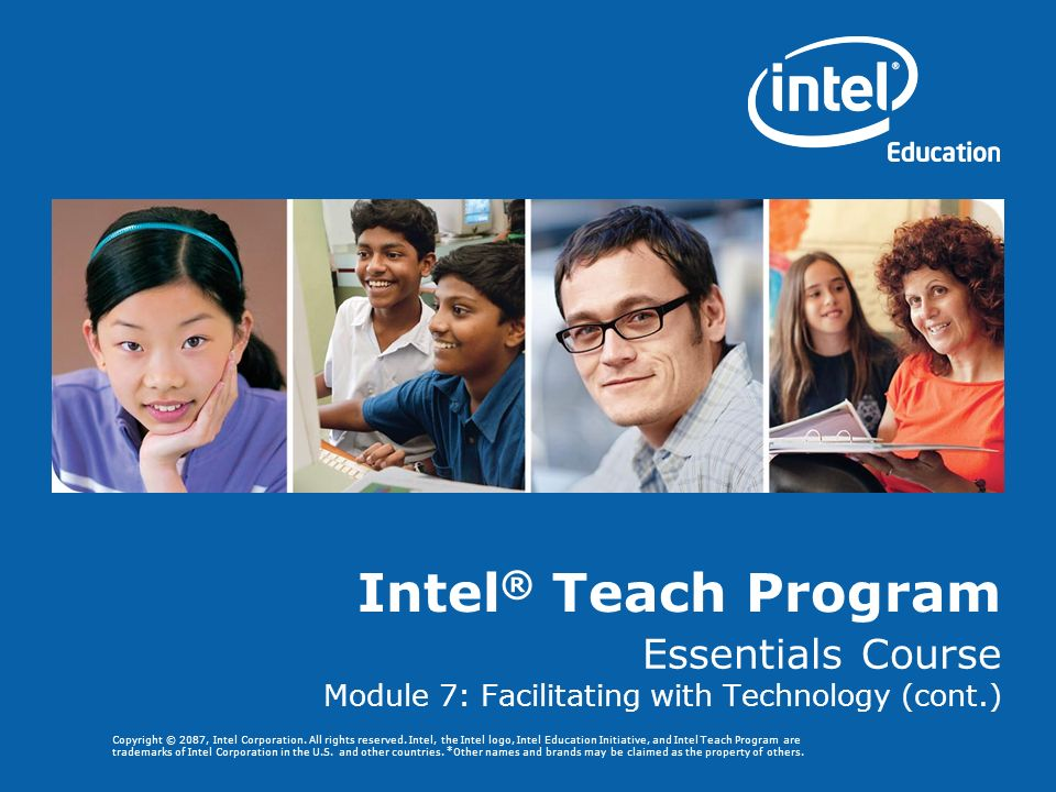Essentials Course Module 7: Facilitating with Technology (cont.)