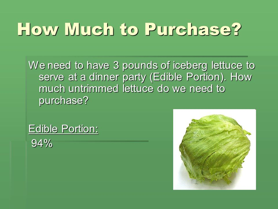 How Much to Purchase
