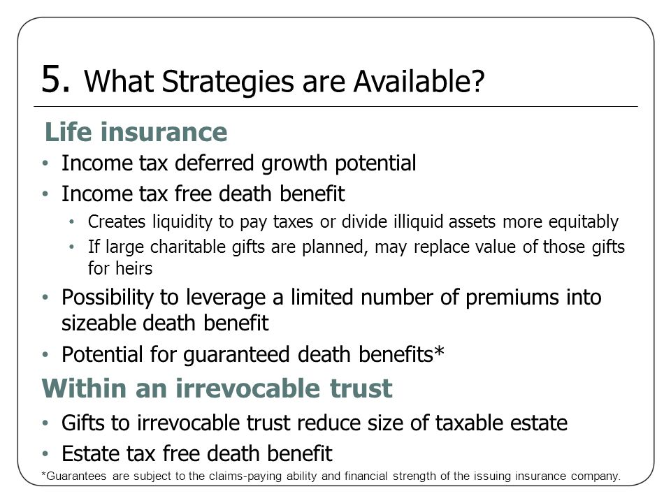 5. What Strategies are Available