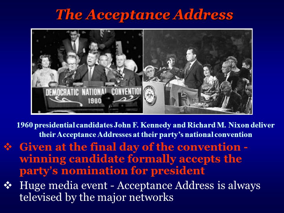 The Acceptance Address