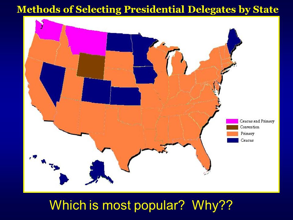 Methods of Selecting Presidential Delegates by State