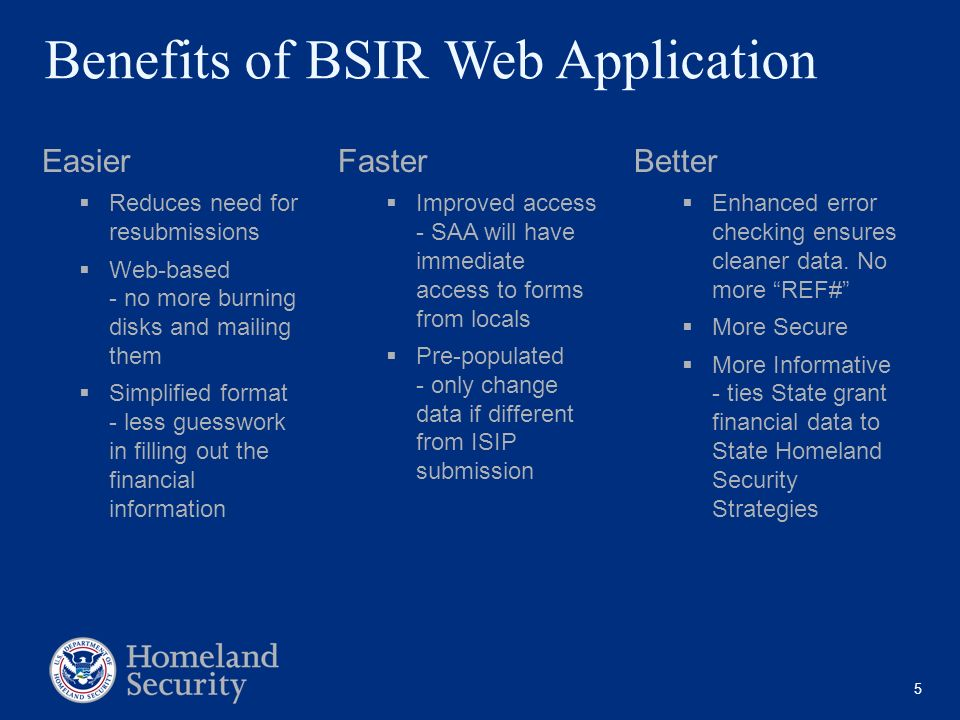 Benefits of BSIR Web Application