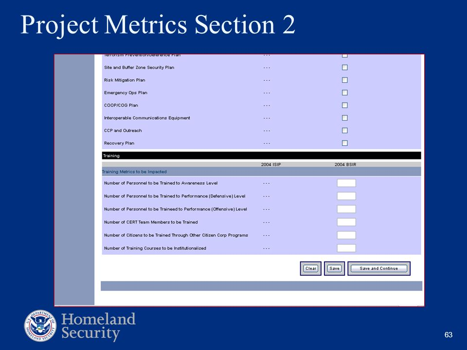 Project Metrics Section 2