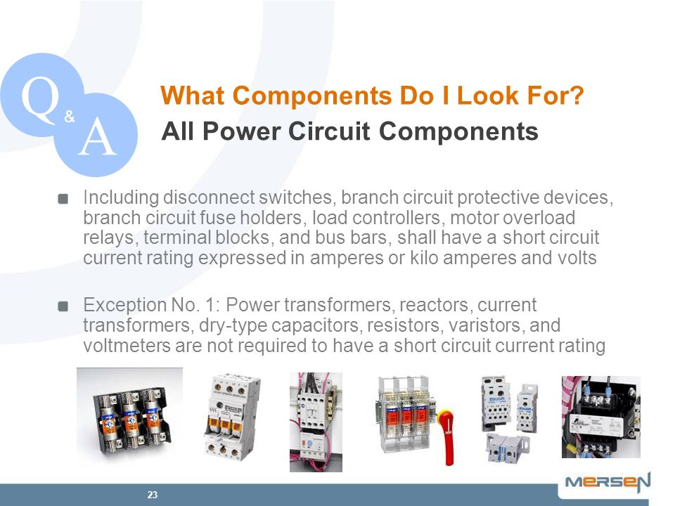 Q A What Components Do I Look For All Power Circuit Components