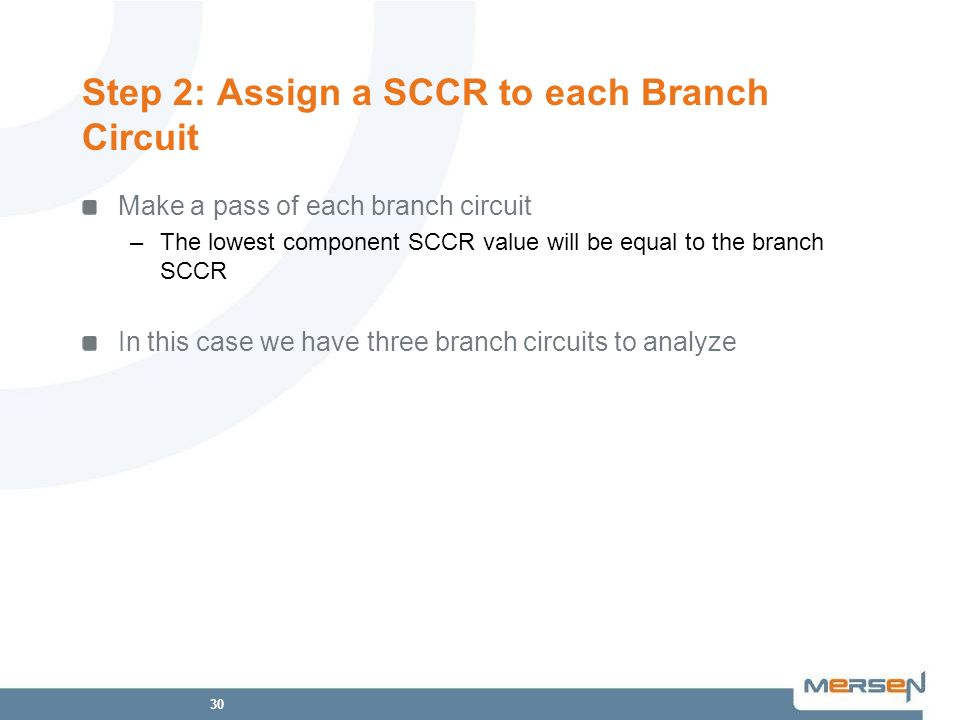 Step 2: Assign a SCCR to each Branch Circuit
