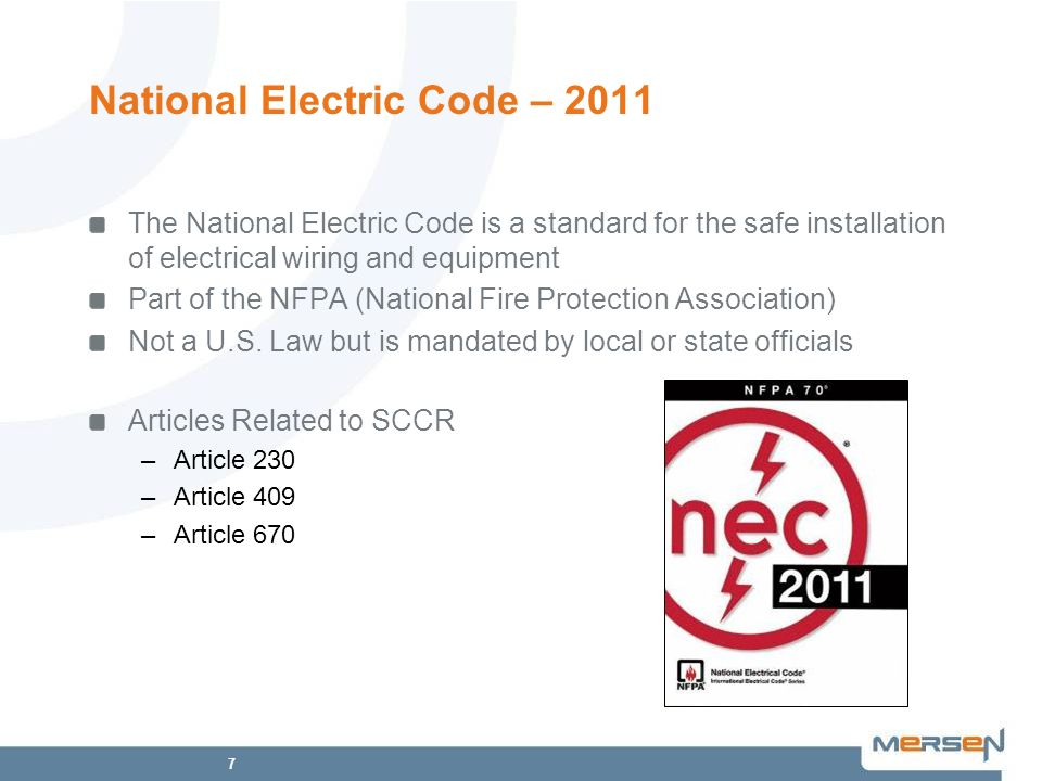 National Electric Code – 2011