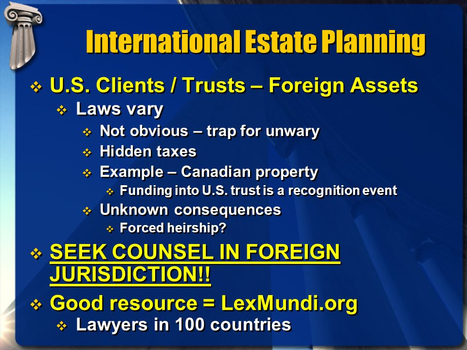 International Estate Planning