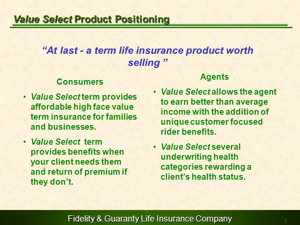 At last - a term life insurance product worth selling