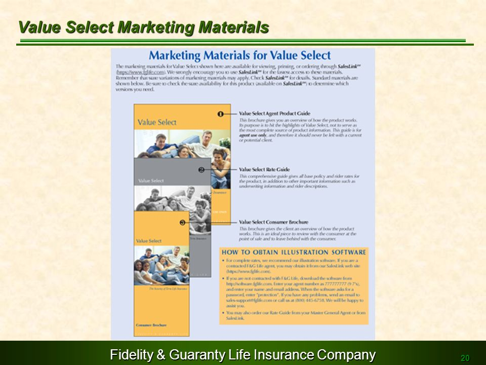 Value Select Marketing Materials
