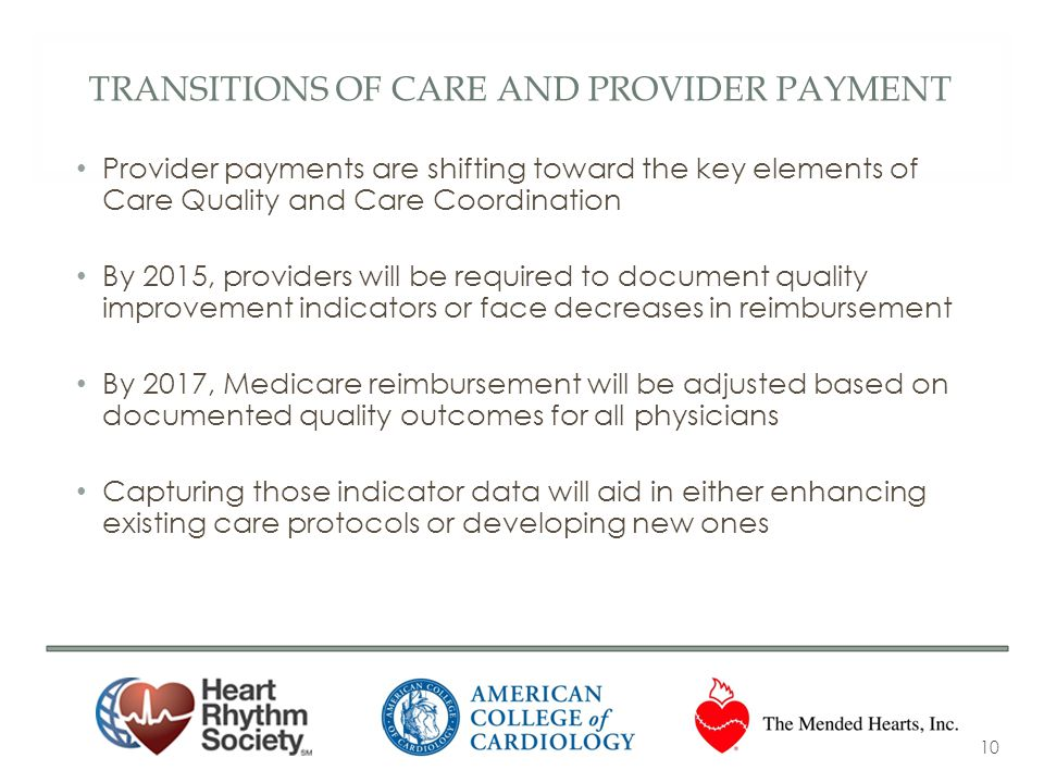 Transitions of Care AND Provider Payment