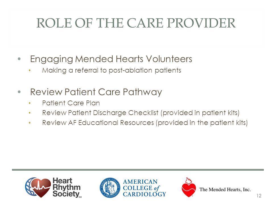 role of the Care provider