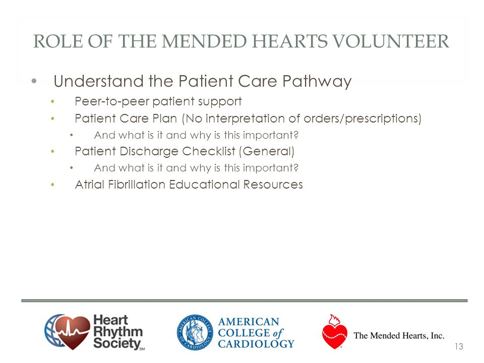 Role of the Mended hearts volunteer