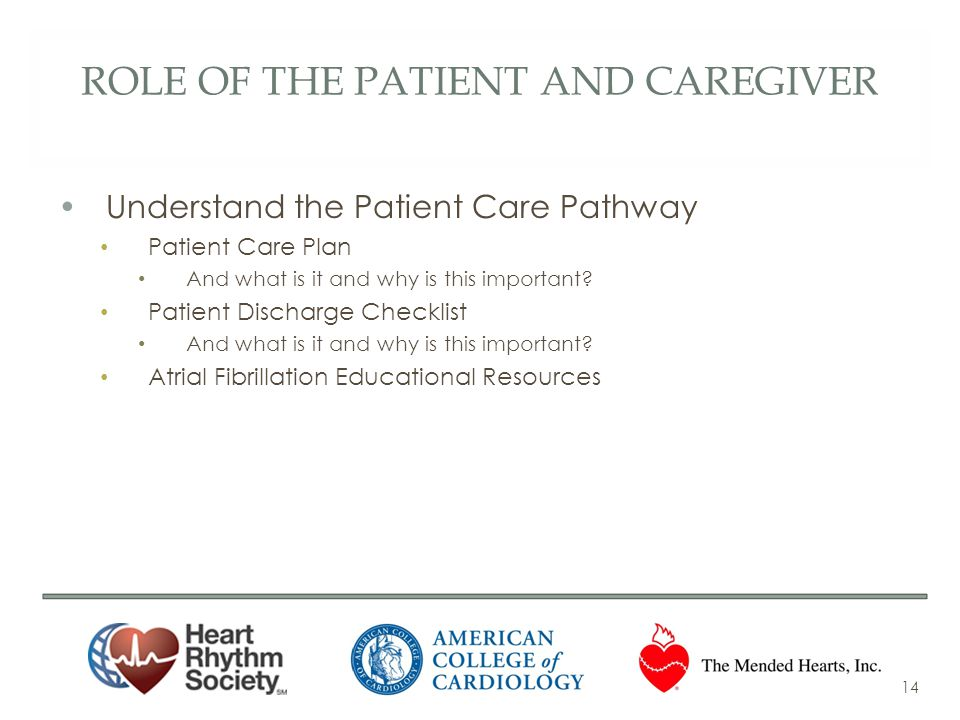 role of the patient and caregiver