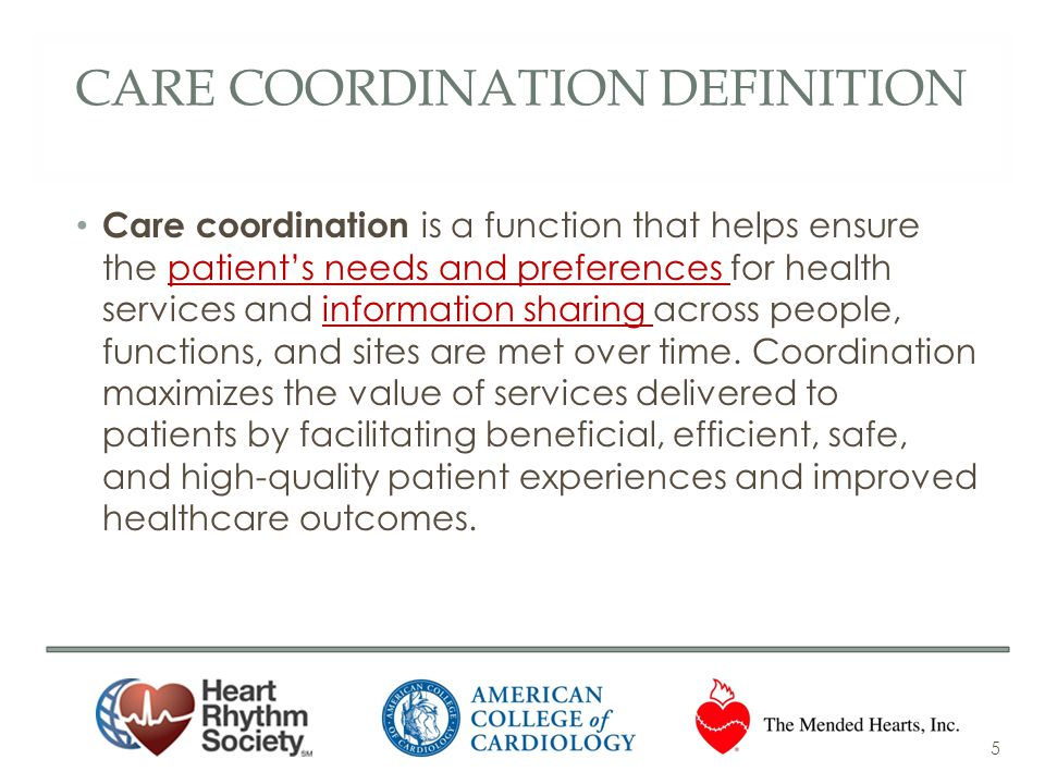 Care coordination definition
