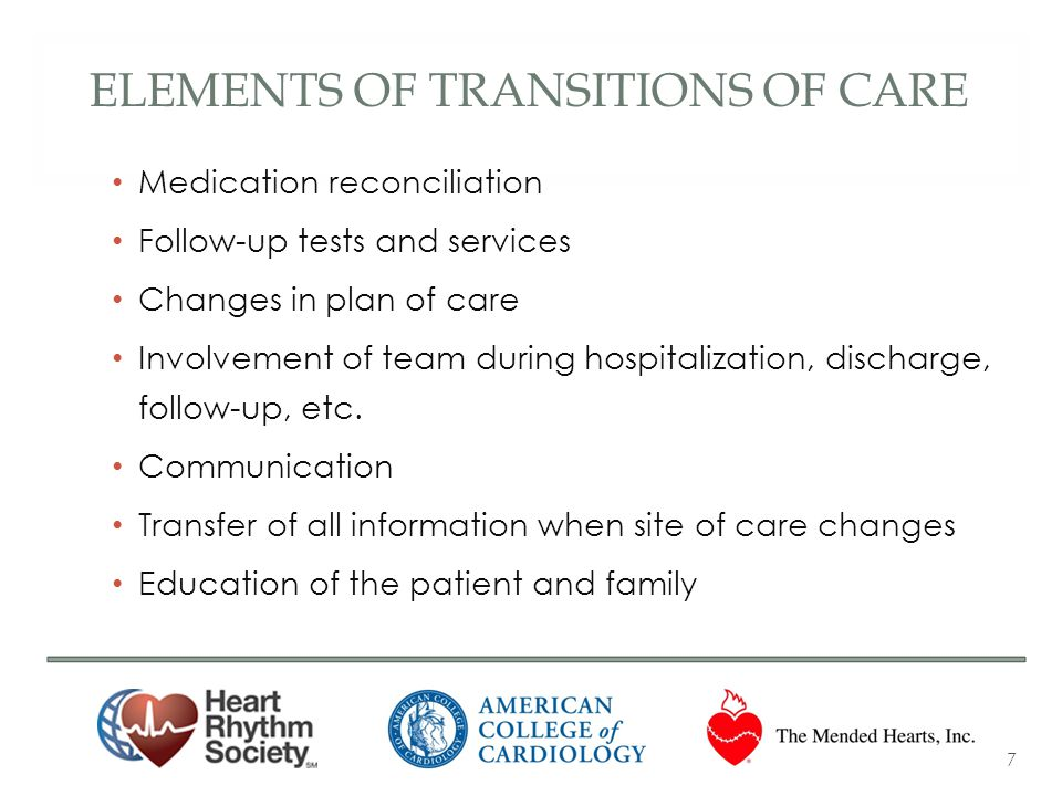 Elements of transitions of care
